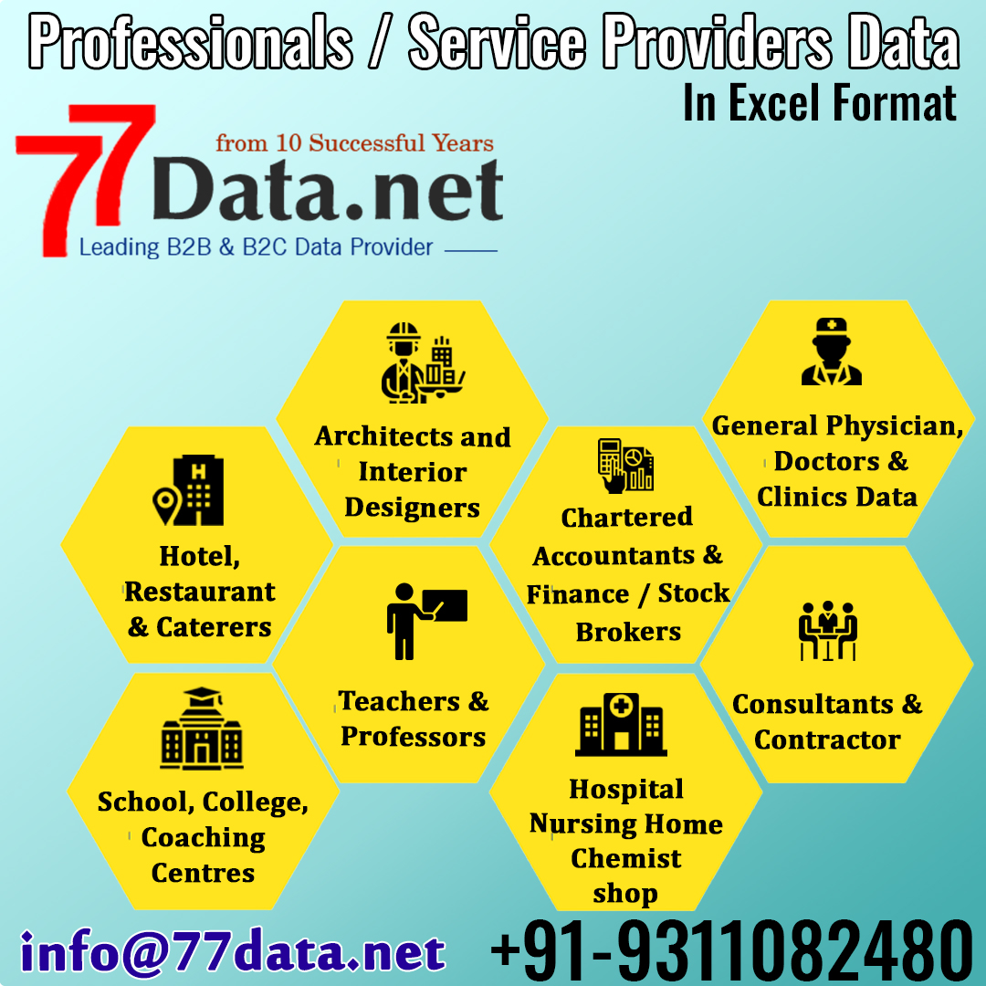 Indian Professionals, Services & Commercial Data Provider