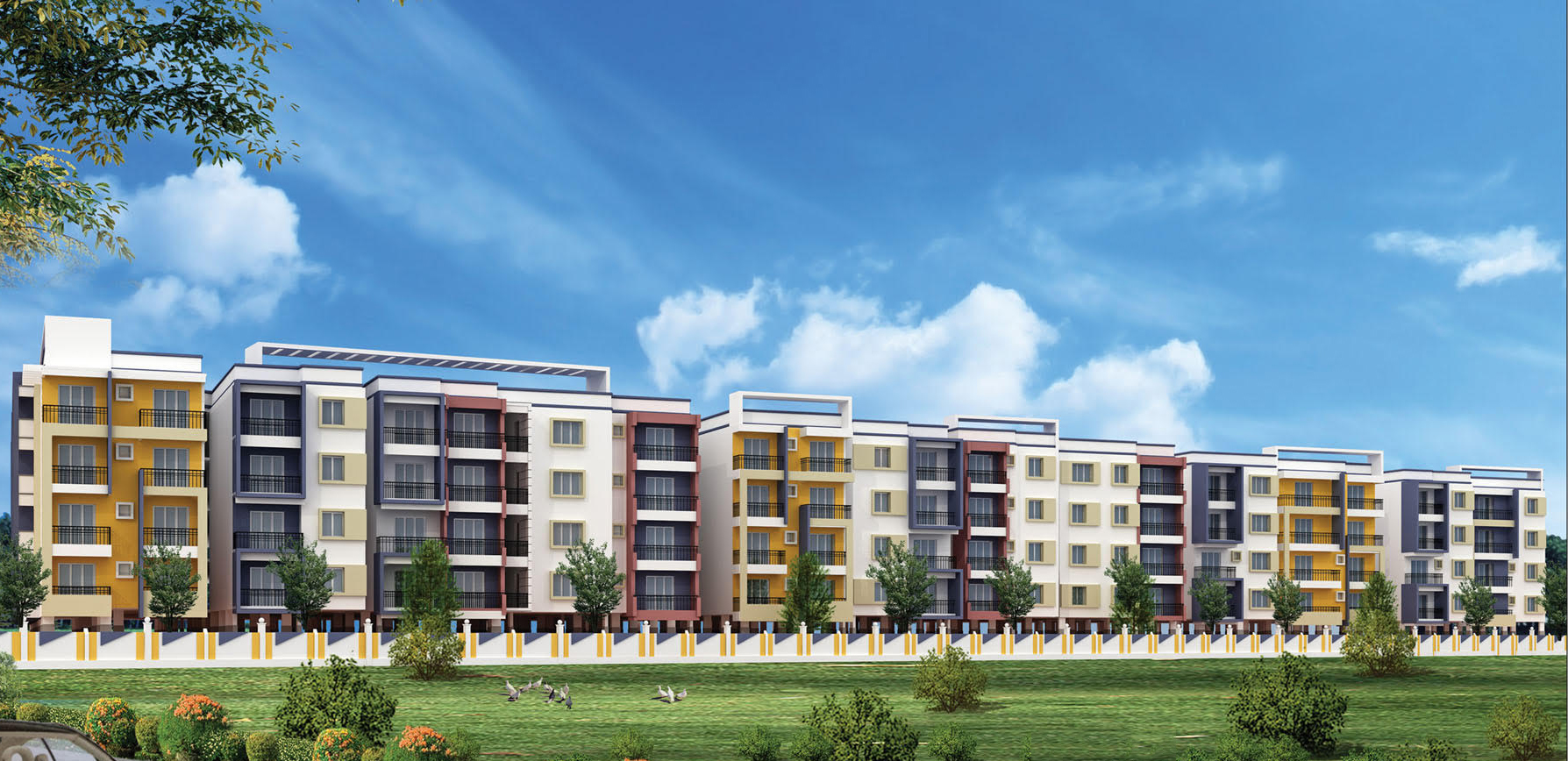 2 & 3Bhk Flats for sale in Whitefield,Bangalore Call on 9686201040