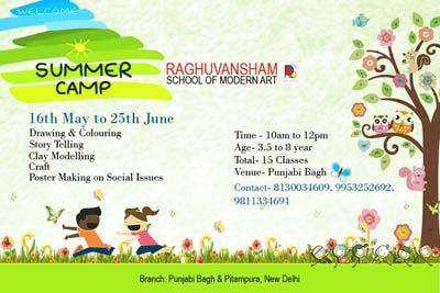 summer camp 2016 at raghuvansham school of modern art