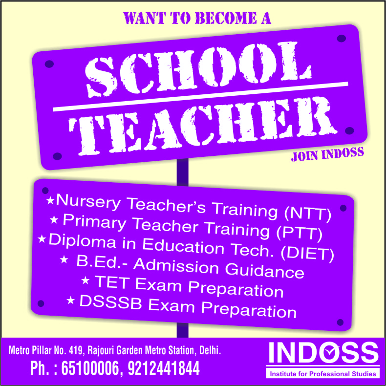 Admissions open for NTT/NPTT/B.ED Programs