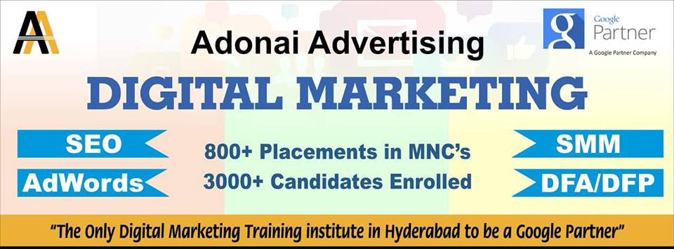 Digital Marketing Training in Hyderabad (SEO, AdWords, PPC, DFA/DFP)