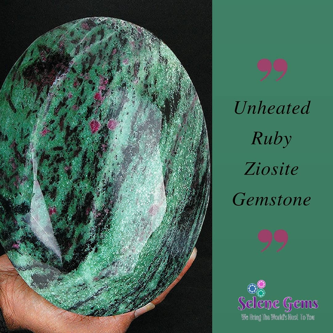 Buy Unheated Ruby Ziosite Gemstone Available Only At Ebay.