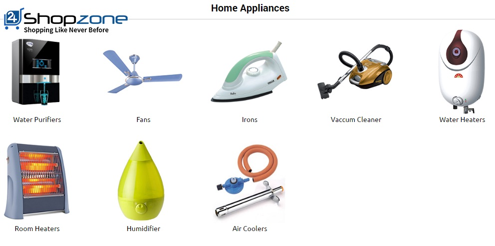Buy Eletronics Home Appliances Online on 24shopzone.com