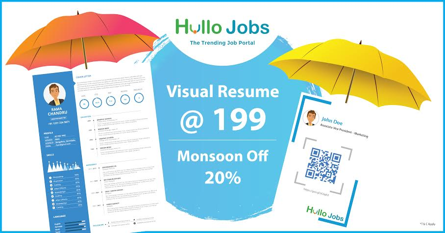 Discounted Visual Resume at 199 Get Special Pocket Resume