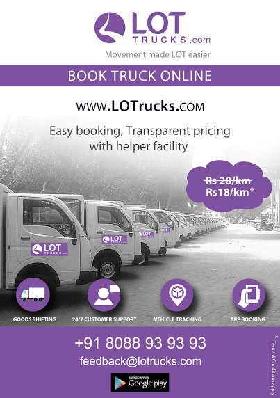 Book Mini Truck for rent online Bangalore