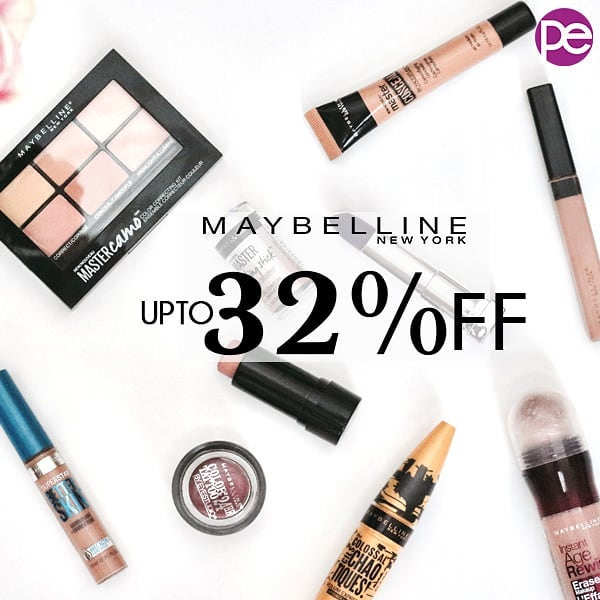 Buy Maybelline Beauty Products at UPTO 32% OF